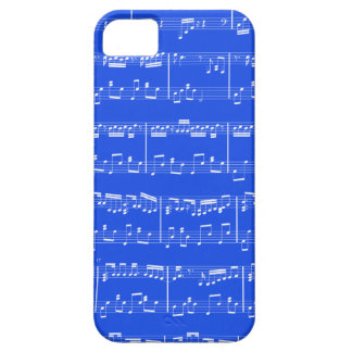 iPhone 5 Sheet Music Royal Blue iPhone 5 Cover