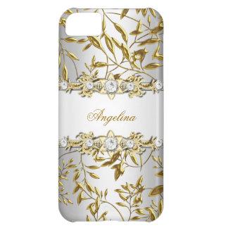 iPhone 5 Silver White Gold Diamond Jewel Image iPhone 5C Case