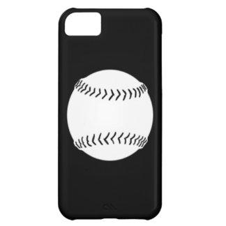 iPhone 5 Softball Silhouette White on Black iPhone 5C Case