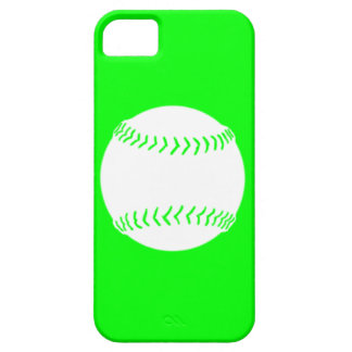 iPhone 5 Softball Silhouette White on Green iPhone 5 Cover
