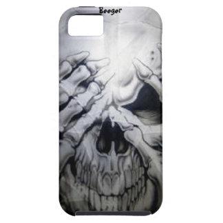 Iphone 5 tough - Peek-a-BOO Skull iPhone 5 Case