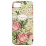 IPhone 5 - Vintage English Rose Lace n Hydrangea