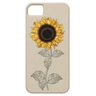 iPhone 5 Vintage Yellow Gold Sunflower iPhone 5 Covers
