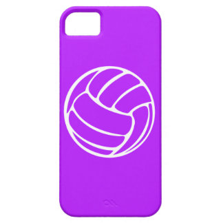 iPhone 5 Volleyball White on Purple iPhone 5 Cover