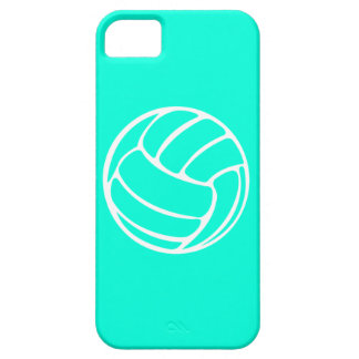 iPhone 5 Volleyball White on Turquoise iPhone 5 Case