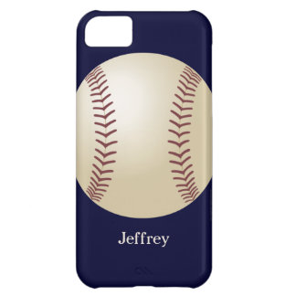 iPhone 5c Case, Baseball, Blue, Personalized iPhone 5C Case