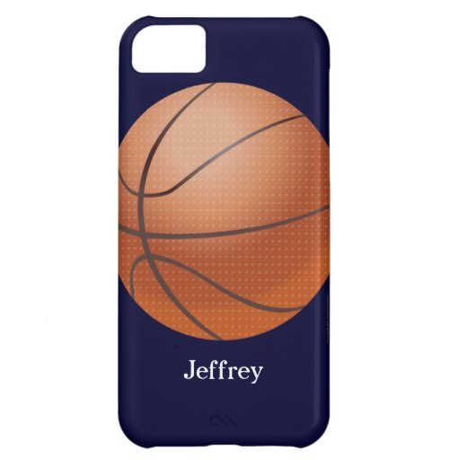 iPhone 5c Case, Basketball, Blue, Personalized
