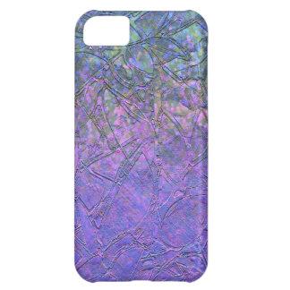 iPhone 5C Case Sparkley Grunge Floral Relief