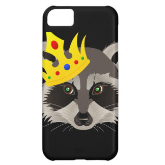 Iphone 5C case with king raccoon