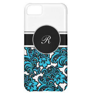iPhone 5C Damask Monogram Case