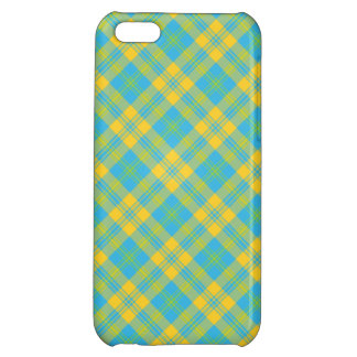 iPhone 5c Savvy Case: Blue Yellow Green: Plaid iPhone 5C Cases