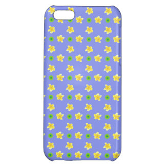 iPhone 5c Savvy Case: Primroses, Polkas, Mauve Cover For iPhone 5C