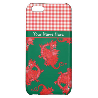 iPhone 5c  Savvy Case to Personalize: Red Dragon iPhone 5C Cover