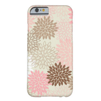 iPhone 6/6S Case -- Dusty Rose & Brown Mums
