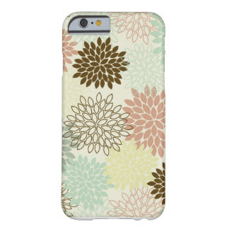 iPhone 6/6S Case -- Dusty Rose & Green Blue Mums