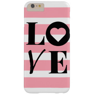 iPhone 6/6s Case - LOVE - Pink & White Stripes