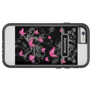 Iphone 6/6s Case Pink Butterflies Chalkboard