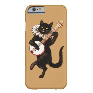 iPhone 6/6s case with vintage cat playing guitar