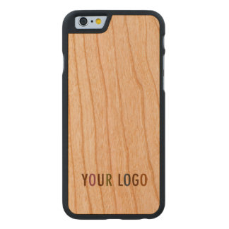 iPhone 6 6s Cherry Wood Case Custom Company Logo