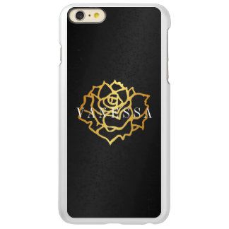 iPhone 6/6s Feather Plus - Shine - Black Gold Rose