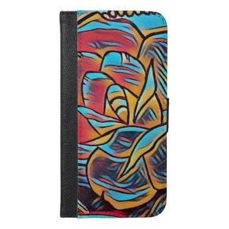 iPhone 6/6s  PlusRetro Flash Rose Wallet Case