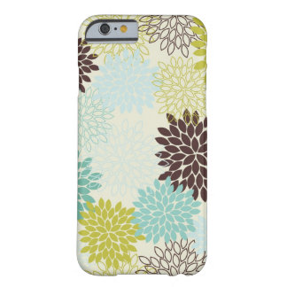 iPhone 6/6SCase -- Sky Blue & Green Mums, iPhone Barely There iPhone 6 Case