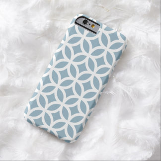 iPhone 6 Case - Aquamarine Blue Geometric Pattern Barely There iPhone 6 Case