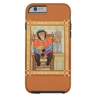 iphone 6 case, chimp art by Zeek Taylor Tough iPhone 6 Case