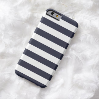 iPhone 6 Case - Classic Navy Blue Bold Stripes