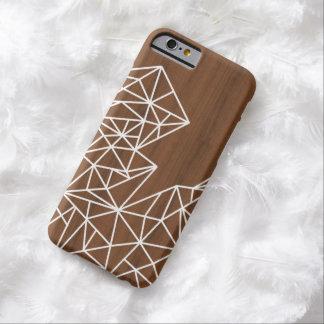 iPhone 6 case dark wood geometric white lines