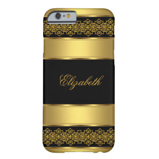 iPhone 6 case Elegant Classy Gold Black