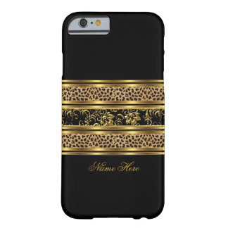 iPhone 6 case Elegant Classy Gold Black Leopard Fl Barely There iPhone 6 Case