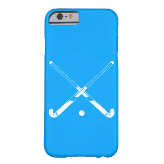 iPhone 6 case Field Hockey Silhouette Blue Barely There iPhone 6 Case