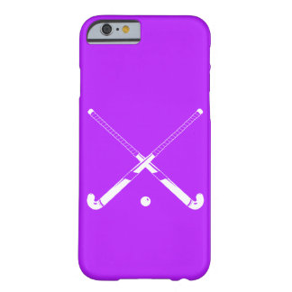 iPhone 6 case Field Hockey Silhouette Purple