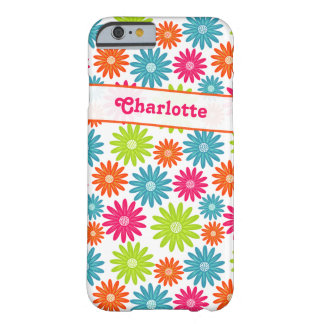 iPhone 6 Case | Funky Flowers | Pink Green Blue Barely There iPhone 6 Case