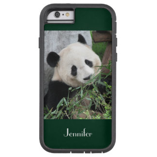 iPhone 6 Case Giant Panda Dark Green Background