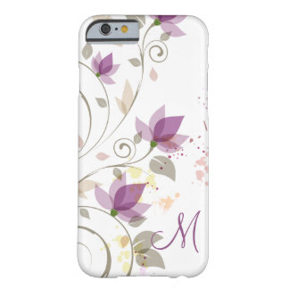 iPhone 6 case Girly Purple Lavender Floral Monogra