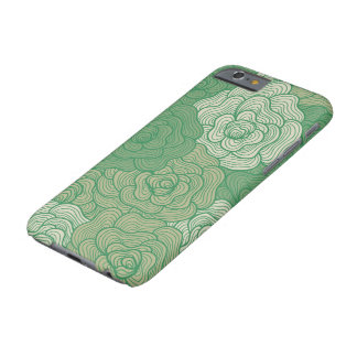 iPhone 6 Case, Green Abstract Floral Design Barely There iPhone 6 Case