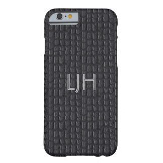 iPhone 6 case Grey Gray Leather Look