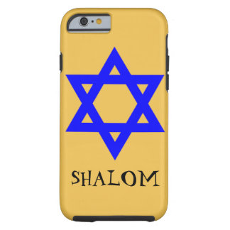iphone 6 case jewish star and the words shalom