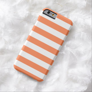 iPhone 6 Case - Nectarine Orange Bold Stripes