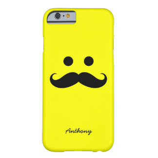 iPhone 6 case Personalized Mustache Smiley Face
