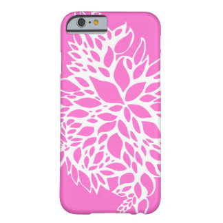 iPhone 6 Case - Pink Leaves Print Barely There iPhone 6 Case