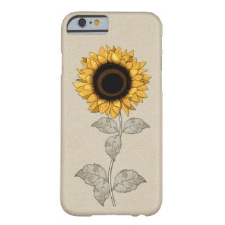 iPhone 6 case Vintage Yellow Gold Sunflower Barely There iPhone 6 Case