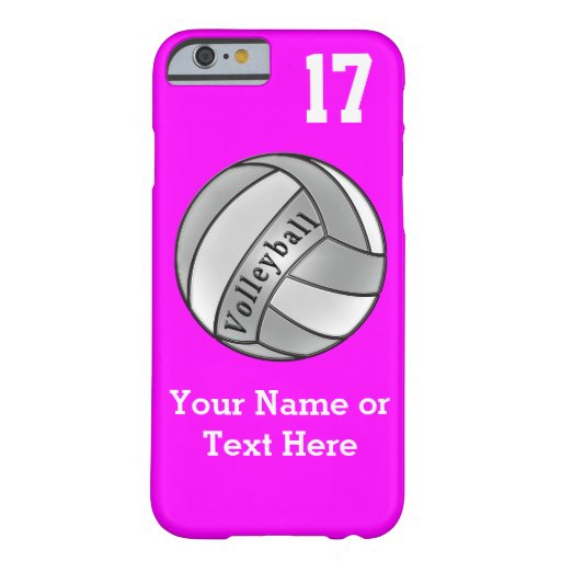 iPhone 6 Case Volleyball, Your NAME, Jersey NUMBER