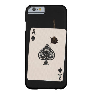 iPhone 6 case with Ace of Spades with bullet hole Barely There iPhone 6 Case