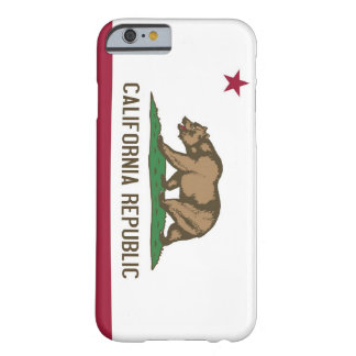 iPhone 6 case with Flag of California Barely There iPhone 6 Case