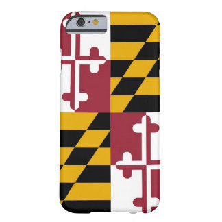 iPhone 6 case with Flag of Maryland Barely There iPhone 6 Case