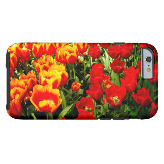 Iphone 6 Case with Red and Yellow Tulips