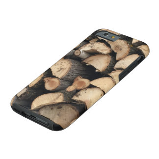 iPhone 6 case wood pile